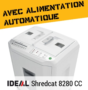 Destructeur avec alimentation automatique IDEAL Shredcat 8220